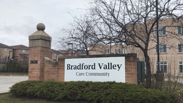Bradford Valley Care Community in Bradford West Gwillimbury. (Mike Arsalides/CTV News)
