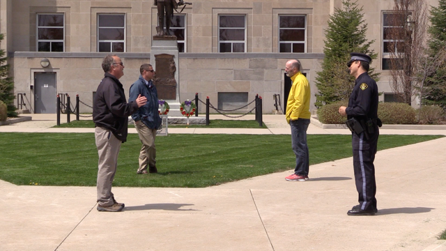 Members of Huron Domestic Assault Review Team on Wednesday, May 13, 2020. (Scott Miller / CTV London)