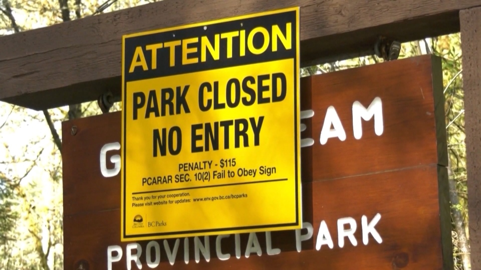Some provincial parks remained closed on May 14, 2020.