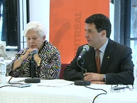 Montreal mayoral debate Louise Harel Benoit Labonte