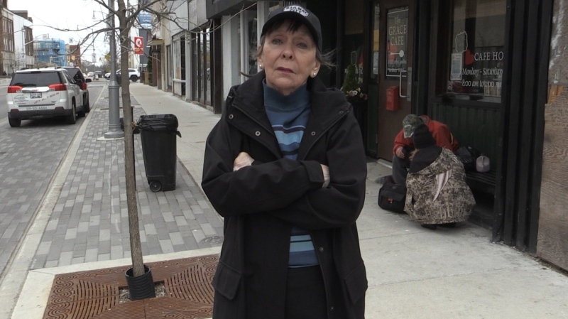 Grace Trepanier, founder and manager of Grace Cafe in St. Thomas Ont. on May 14, 2020. (Bryan Bicknell/CTV London)