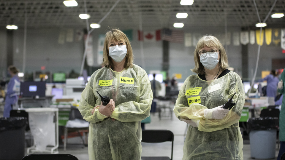 Joselyn Banks returned to the frontlines at the Brewer Arena Assessment Centre during the COVID-19 pandemic, just months after retiring from the Ottawa Hospital.