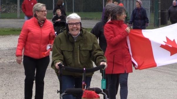 Jacquie Beale completes marathon