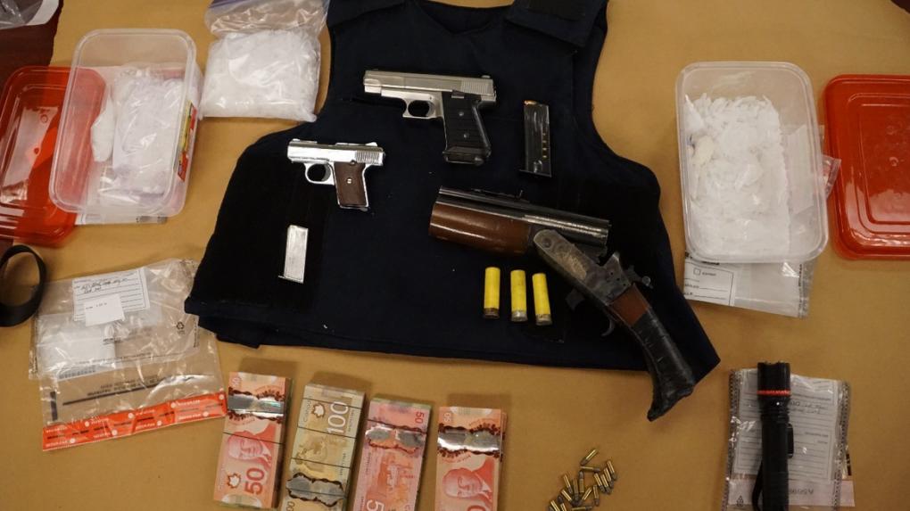Drugs, guns, cash