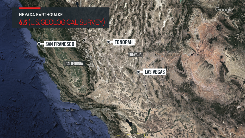 6.4-magnitude earthquake strikes near Tonopah, Nev