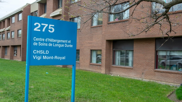 The Vigi Mont-Royal CHSLD is seen in Montreal, Friday, May 15, 2020. The senior's residence is among the hardest-hit by the COVID-19 pandemic on the Montreal island. THE CANADIAN PRESS/Ryan Remiorz