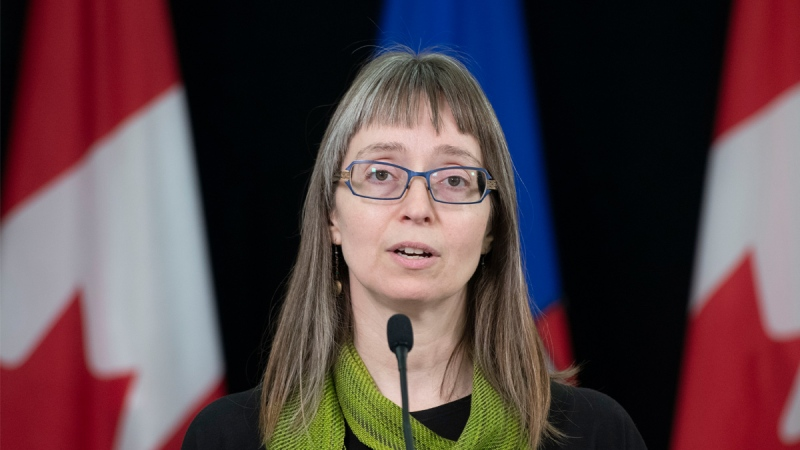 Alberta's chief medical officer of health Dr. Deena Hinshaw provided an update, from Edmonton on Thursday, May 14, 2020, on COVID-19 and the ongoing work to protect public health. (photography by Chris Schwarz/Government of Alberta)