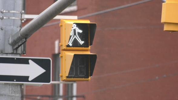 Pedestrian crosswalk in North Bay