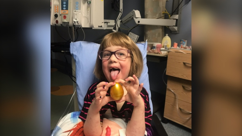 """Her mother says she's been nicknamed """"one tough cookie"""" during her hospital stay."""