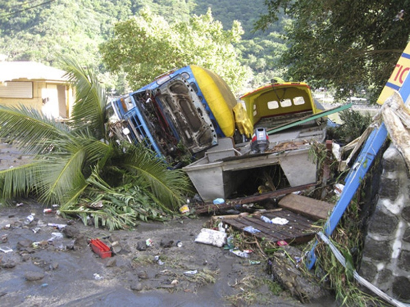 The aftermath of a powerful earthquake is seen in Pago Pago village, on American Samoa Tuesday, Sept. 29, 2009. (SamoaNews.com / Ausage Fausia)