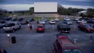 A drive-in is pictured in this video screengrab.
