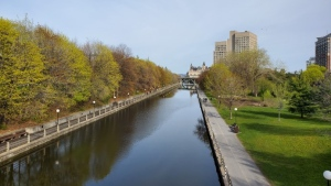 The Rideau Canal on Sunday, May 17. (Josh Pringle/CTV News Ottawa)