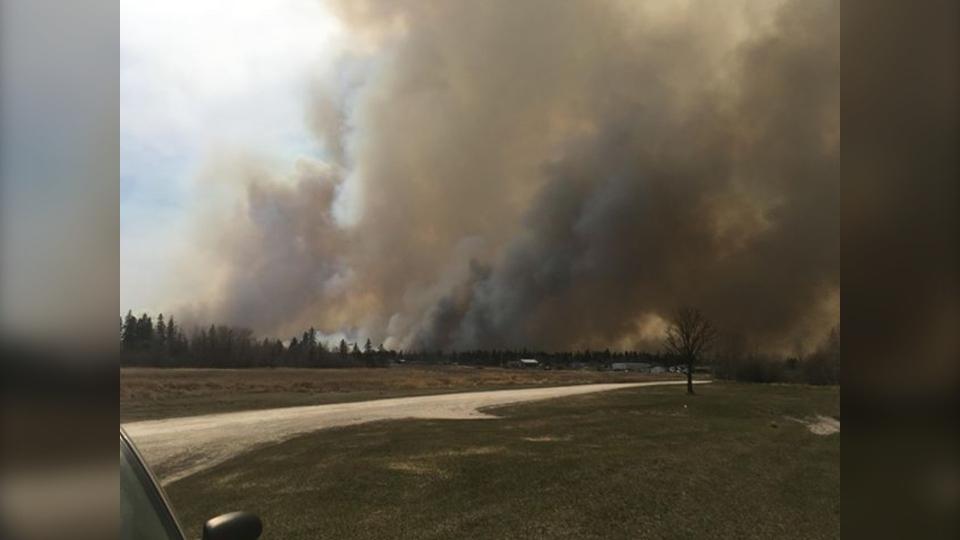 Fire near Camperville, Man.