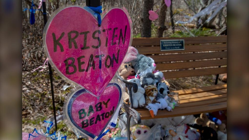 Shrine to Kristen Beaton and her unborn child