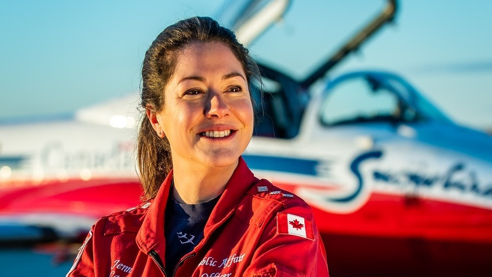 Capt. Jenn Casey is seen in this undated handout photo from the Royal Canadian Air Force Twitter page. One member of the Canadian Armed Forces has died and another is injured after a Snowbird plane crashed in a residential area of Kamloops, B.C., on Sunday while on a cross-country tour meant to impart hope during the COVID-19 pandemic. Capt. Jenn Casey, a public affairs officer with the Canadian Forces, died in the incident, the Department of National Defence said Sunday night. THE CANADIAN PRESS/HO, Twitter-@RCAF_ARC