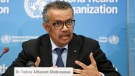 In this Monday, Feb. 24, 2020 file photo, Tedros Adhanom Ghebreyesus, Director General of the World Health Organization (WHO), addresses a press conference about the update on COVID-19 at the World Health Organization headquarters in Geneva, Switzerland. (Salvatore Di Nolfi/Keystone via AP, File)
