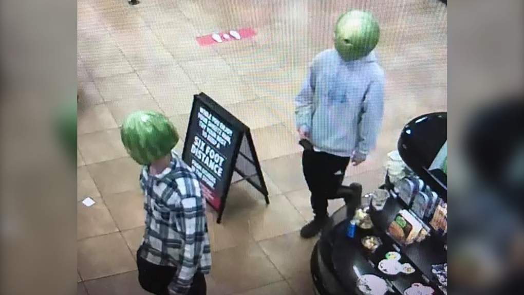 Two People Accused Of Shoplifting While Wearing Watermelons On Their Heads""