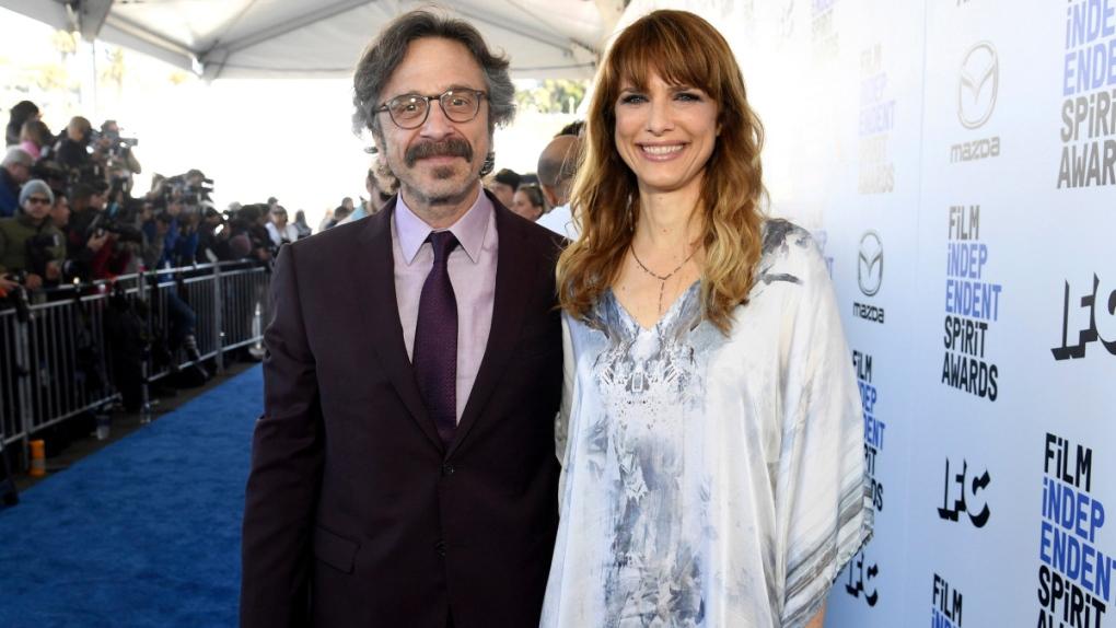Marc Maron and Lynn Shelton in Santa Monica