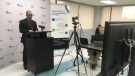 Windsor-Essex medical officer of health Dr. Wajid Ahmed in Windsor, Ont., on Tuesday, May 19, 2020. (Bob Bellacicco / CTV Windsor)