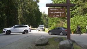 Cars were turned away at Golden Ears because the park reached its capacity on May 18, 2020.