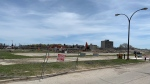The former Kapyong Barracks in the process of demolition in Winnipeg on May 19, 2020. (Source: Jamie Dowsett/ CTV News Winnipeg)