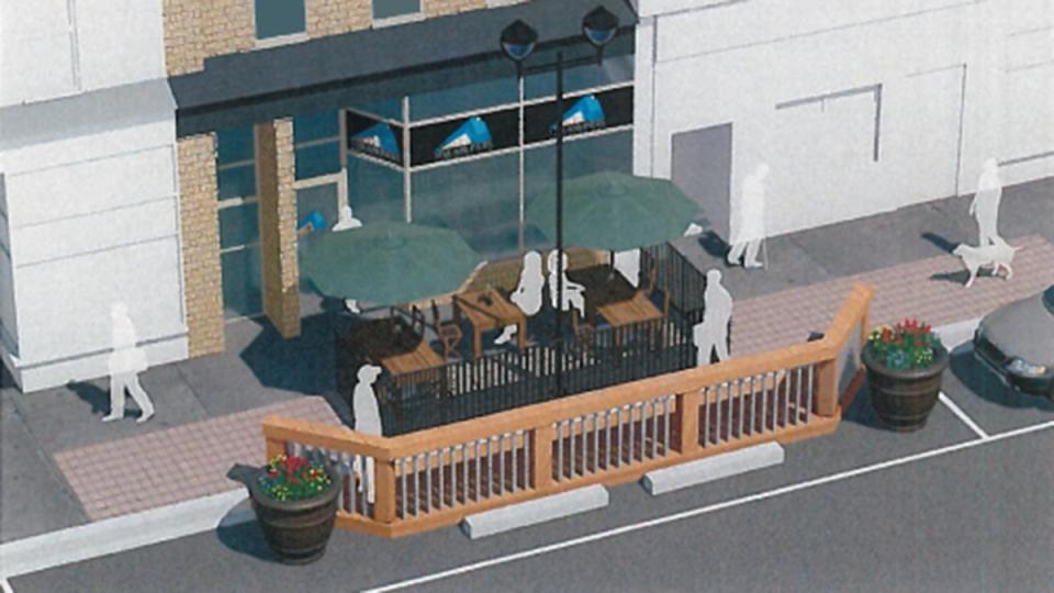 Pop-up patio concept