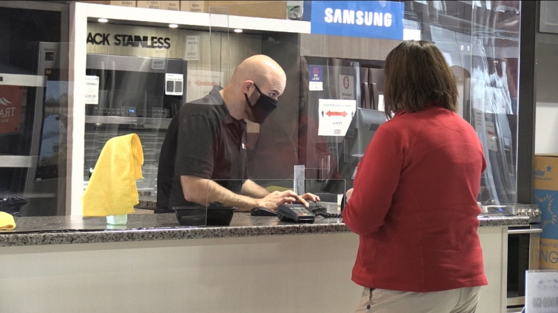 As part of Phase 1 of reopening the province Tuesday, several retail stores in Sudbury welcomed the public back -- with some new safety precautions in place (Alan Pickrell/CTV Northern Ontario)