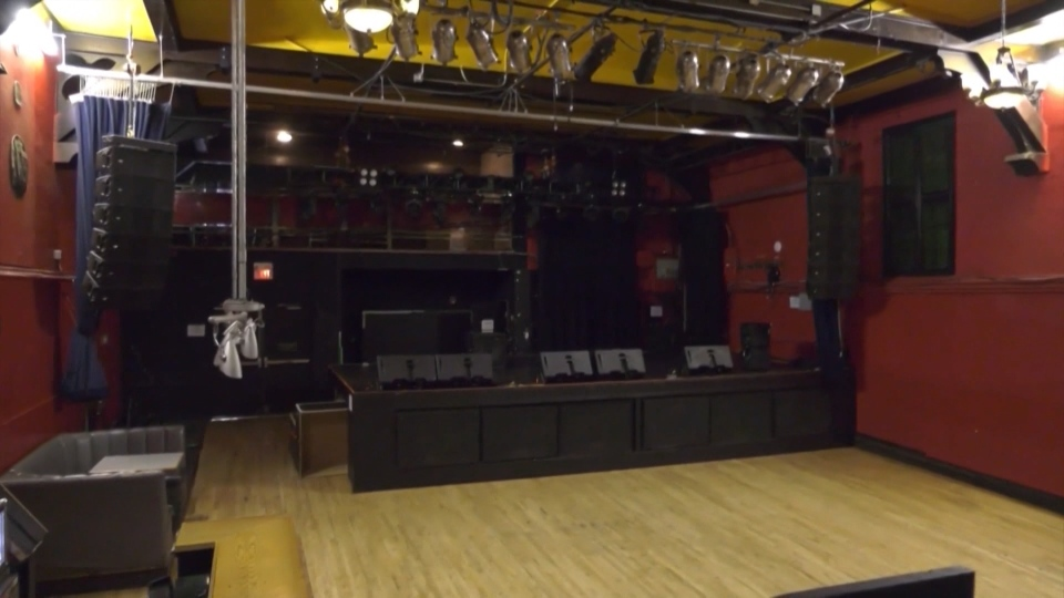 The Starlite Room sits empty