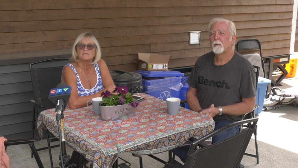 Gunn and Kirk Yardley were unable to move back into their Courtenay, B.C. home after returning from Mexico because their tenants hadn't left. Now they're living in a hastily rented suite.