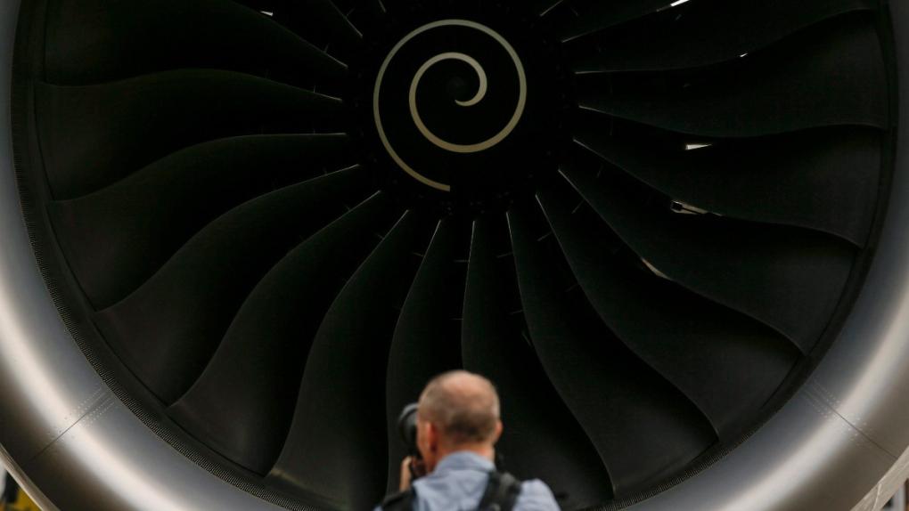 A Rolls-Royce jet engine