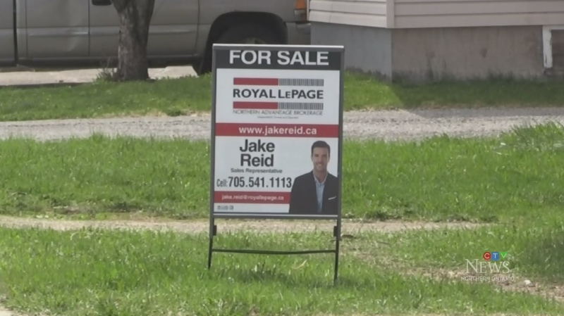 For sale sign in Sault Ste. Marie. May 19/20 (Christian D'Avino/CTV Northern Ontario)