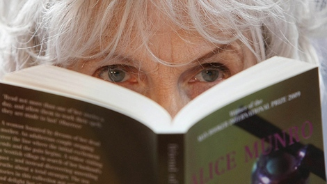 Alice Munro, winner of the 2009 Booker International Prize, attends a press conference at Trinity College, Dublin, Ireland, Thursday, June, 25, 2009. (AP / Peter Morrison)