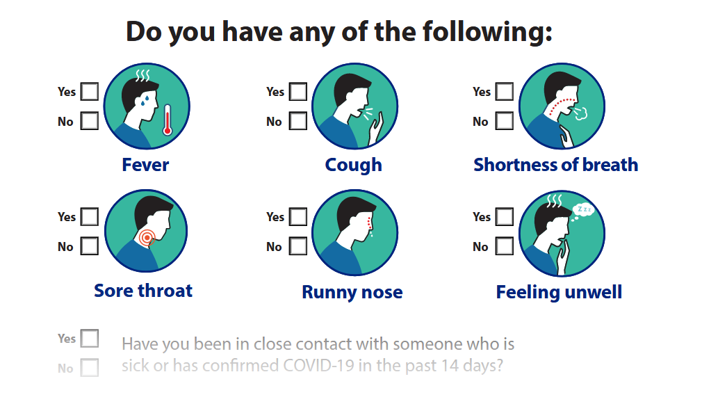 COVID-19 self assessment tool for businesses