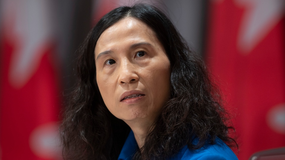 Chief Public Health Officer Theresa Tam listens to a question during a news conference Tuesday May 19, 2020 in Ottawa. THE CANADIAN PRESS/Adrian Wyld