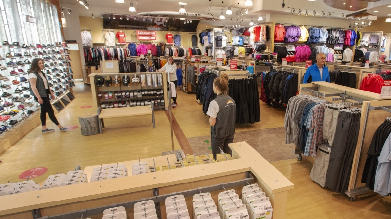 The Atmosphere sporting goods store reopens for business Monday May 4, 2020 in St. Sauveur, Quebec. THE CANADIAN PRESS/Ryan Remiorz