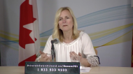 P.E.I.'s Chief Public Health Officer Dr. Heather Morrison gives an update on COVID-19 on May 20, 2020.