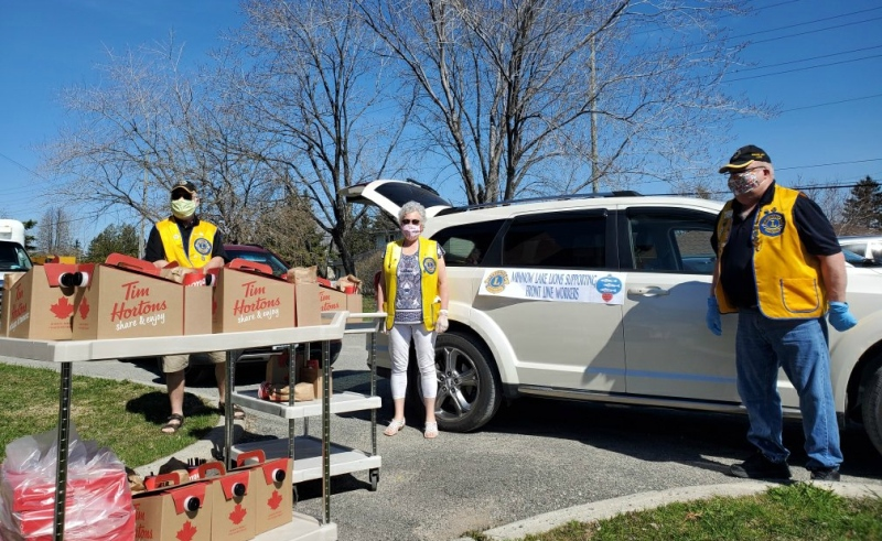 The Minnow Lake Lions Club has launched a new initiative called Frontline Worker Wednesdays, where they deliver free treats to long-term care homes in Sudbury to show their appreciation. (Alana Pickrell/CTV News)