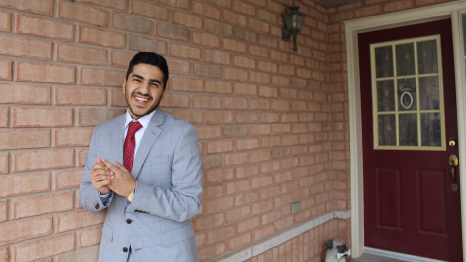 Michael Salib, a 'Prom is on 2020' student organizer, can be seen in this image. (Michael Salib)