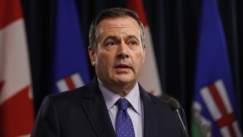 Alberta Premier Jason Kenney began self-isolating on Oct. 21, 2020 after a cabinet minister tested positive for the coronavirus. (Canadian Press Image)