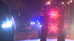 Montreal police were called to the scene of a motorcycle accident early Thursday morning / Cosmo Santamaria, CTV Montreal