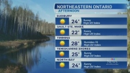 Sun and daytime highs soaring over 20 in the north
