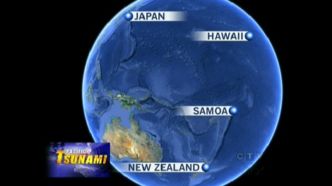 CTV News map illustrated the location of Samoa and American Samoa in the South Pacific.