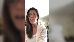 Sault Ste. Marie dentist Dr. Patience Simpson posted a video of her playing a song she wrote to her patients, asking them to stay healthy and safe while dentists are restricted to emergency procedures only. (Photo from video)
