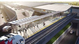 This image is an artistic representation of the Airport Station design. The final product may not be exactly as shown. (Courtesy: Ottawa.ca)