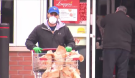 masked shopper