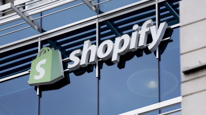 "The Ottawa headquarters of Canadian e-commerce company Shopify are pictured on Wednesday, May 29, 2019. Shopify Inc. is launching a handful of business management and sales tools to help entrepreneurs ""future-proof"" their companies as they grapple with COVID-19. THE CANADIAN PRESS/Justin Tang"