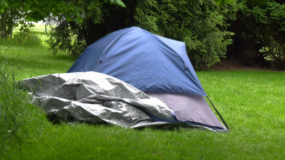 A tent in Victoria's Topaz park on Thursday, May 21, 2020. (CTV News)