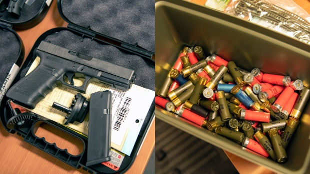Firearms and ammunition were seized by investigators in Project Stanley. (York Regional Police)