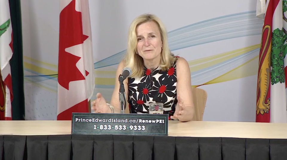 P.E.I.'s Chief Public Health Officer Dr. Heather Morrison gives an update on COVID-19 on May 22, 2020.