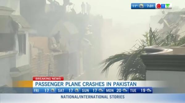 Headlines, plane crash in Pakistan